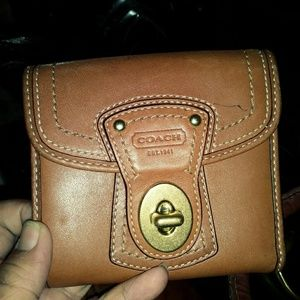 Coach leather fold wallet
